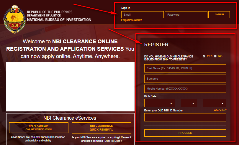 NBI CLEARANCE Register