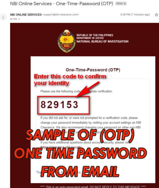 NBI Email OTP